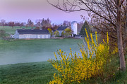 New England Farm Scene Metal Prints - Color of Spring Metal Print by Bill  Wakeley