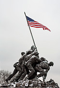 Iwo Jima Monument Framed Prints - Color on a Grey Day Framed Print by JC Findley