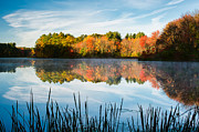 Grist Millpond Photo Prints - Color on Grist Millpond Print by Michael Blanchette