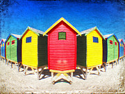 Beach Huts Posters - Color Reflected Poster by Neil Overy