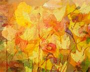 Abstract Floral Art Paintings - Color Sinfonia by Lutz Baar