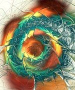Cool Prints - Color Spiral Print by Anastasiya Malakhova