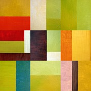 Textural Paintings - Color Study Abstract 10.0 by Michelle Calkins
