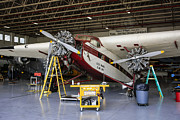 Ford Tri-motor Photos - Color Tri-Motor by Chris Smith