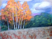 Colorado Trees Pastels Prints - Colorado Aspen Print by Richard Nervig