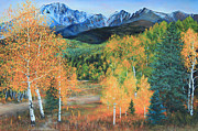 Posters On Paintings - Colorado Aspens by Jeanette French