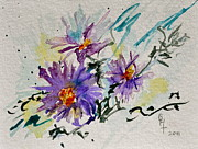 Wild Asters Paintings - Colorado Asters by Beverley Harper Tinsley