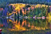 Fall Road Digital Art Originals - Colorado Autumn by Jon Burch Photography