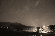 Colorado Chapel On The Rock Dreamy Night Sepia Sky Print by James Bo Insogna