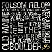 Old Main Posters - Colorado College Colors Subway Art Poster by Replay Photos