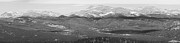 Colorado Continental Divide Panorama Hdr Bw Print by James Bo Insogna