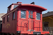 Catherine Fenner Prints - Colorado Denver and Rio Grande Caboose 49 Print by Catherine Fenner