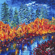 Impasto Oil Digital Art - Colorado Fall by OLena Art