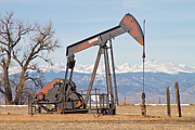 Pumpjack Posters - Colorado Front Range Oil Well Pump Poster by James Bo Insogna