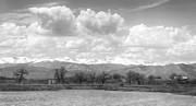 Colorado Front Range Photos - Colorado Front Range Rocky Mountains Panorama BW by James Bo Insogna