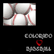 Abstract Map Framed Prints - Colorado Loves Baseball Framed Print by Andee Photography