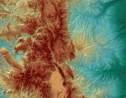 Geography Digital Art - Colorado Map Art by Paul Hein