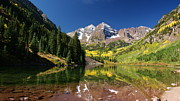 Colorado Prints Framed Prints - Colorado Maroon Bells Framed Print by Michael J Bauer