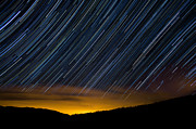 Startrails Posters - Colorado Mountain Startrails Poster by Benjamin Reed