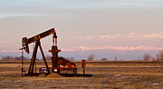 Oil Pumps Prints - Colorado Oil Well Panorama Print by James Bo Insogna