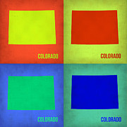 City Map Art - Colorado Pop Art Map 2 by Irina  March