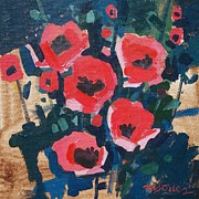 Italy Painting Prints - Colorado Poppies Print by Micheal Jones