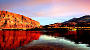 Colorado River Lees Ferry Painting Print by  Bob and Nadine Johnston