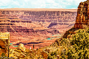 Thor Prints - Colorado River One Mile Below and 18 miles across The Grand Canyon  Print by Nadine and Bob Johnston