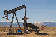 Oil Pump Photos - Colorado Rocky Mountain Oil Wells by James Bo Insogna