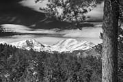 James BO  Insogna - Colorado Rocky Mountain View Black and White