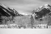 James BO  Insogna - Colorado Rocky Mountain Winter Horseshoe Park BW