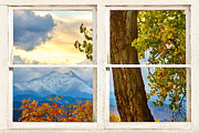 Picture Window Frame Photos Art - Colorado Rocky Mountains Rustic Window View by James BO  Insogna