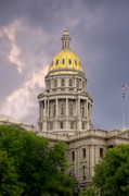 Us Capital Posters - Colorado State Capitol Building Denver CO Poster by Christine Till
