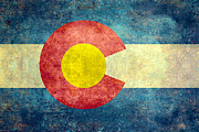 Backdrop Digital Art - Colorado State flag by Bruce Stanfield