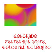 Abstract Map Prints - Colorado State Map Collection 2 Print by Andee Photography