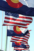 Colorado State Flag Photos - Colorado USA by Brandi Maher
