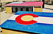 Colorado State Flag Photos - Colorado Western Slope Vietnam Casualities by Janice Rae Pariza