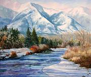 Frederick Painting Originals - Colorado Winter on the Arkansas River by Frederick Hubicki