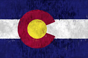 U S Flag Digital Art Prints - Colorado Print by World Art Prints And Designs