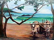 Nicaragua Paintings - Colorados by Dawn Gray Moraga