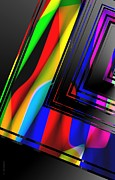 Colored Abstract Geometry Print by Mario  Perez