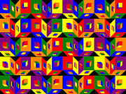 Pharris Art - Colored Cubes