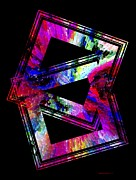 Geometrical Metal Prints - Colored Geometric Art Metal Print by Mario  Perez