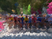 Athens Prints - Colored Peloton Print by David Bearden