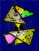 Shine Art - Colored Triangles Art by Mario  Perez
