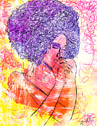 Kenal Louis Art - Colored Woman by Kenal Louis