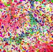 Colorful Abstract Circles Print by Susan Leggett