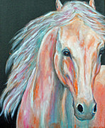 Abstract Horse Paintings - Colorful Arabian by Jennifer Morrison Godshalk