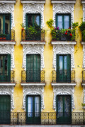 19th Century Architecture Prints - Colorful Balconies in Madrid Print by George Oze