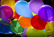 Party Birthday Party Metal Prints - Colorful balloons Metal Print by Elena Elisseeva